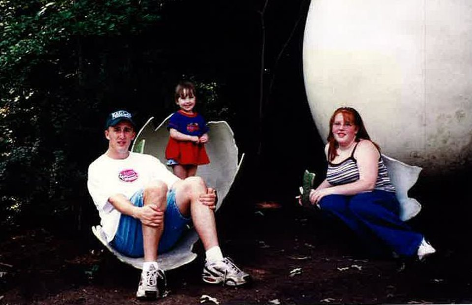 Photo -       John and Stacey Titus with their little cousin, Becca Salberg, in a 1998 photo. When their mom died, they went to live with their aunt and uncle, just before their cousin was born.