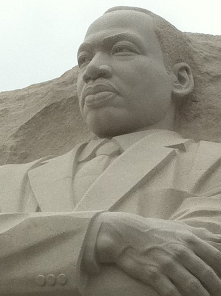 Photo - The solemn eyes of Martin Luther King Jr. seem to gaze out over the Washington Mall.  PHOTO BY JOE HIGHT, THE OKLAHOMAN