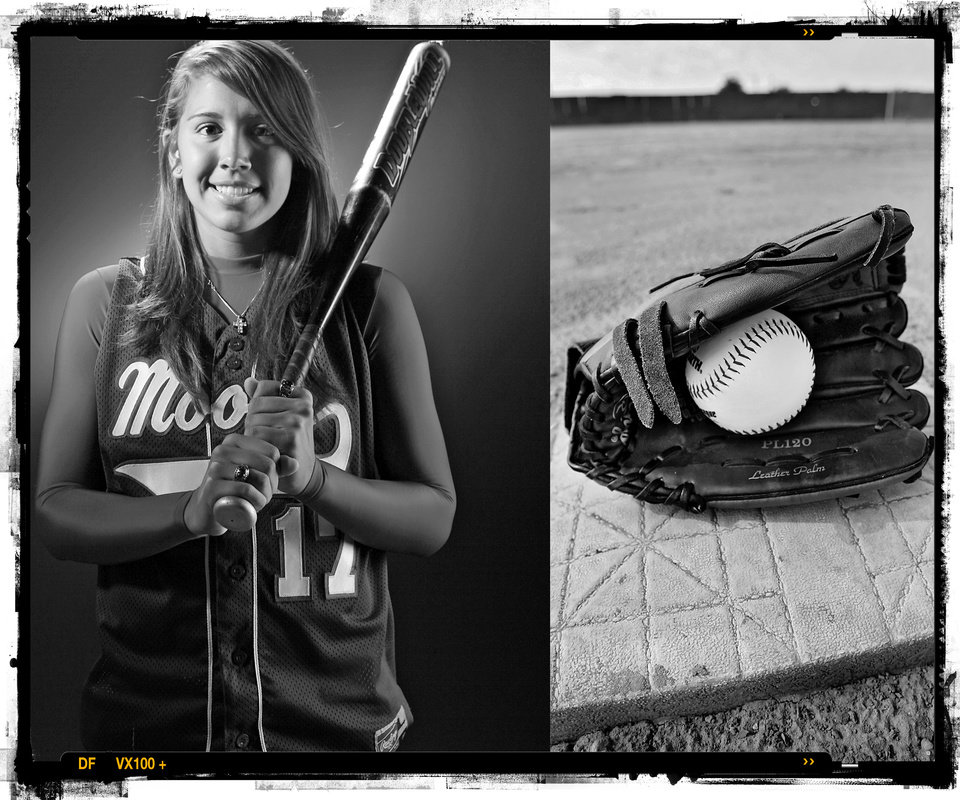 Photo - SECOND PLACE, PHOTO PACKAGE:  Moore High School's Chelsea Garcia softball player of the year Spring sports honor roll shot in the OPUBCO studio on Thursday, May 22, 2008, in Oklahoma City, Okla.  staff photo ILLUSTRATION by CHRIS LANDSBERGER