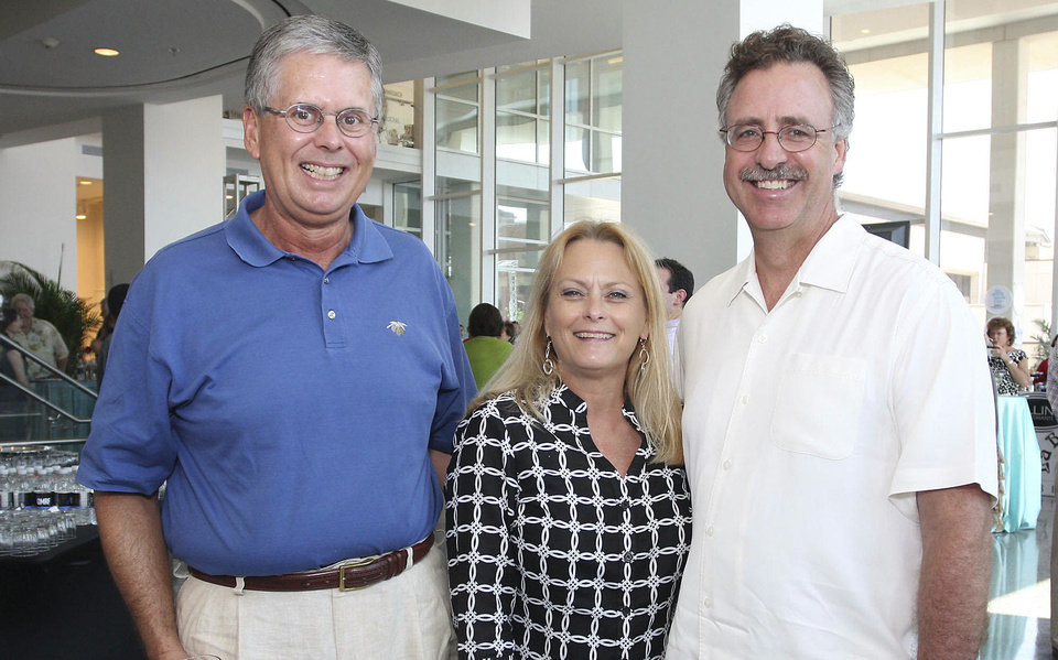 Photo - Richard Clements, Gayle and Richard Parry. Photos by David Faytinger, for the Oklahoman