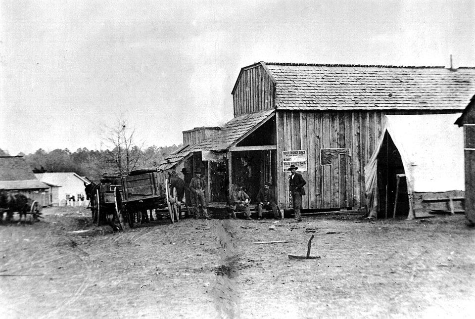 Photo - This image shows a 19th-century view of Doaksville, which was near Fort Towson but exists now only as ruins. PROVIDED BY OKLAHOMA HISTORICAL SOCIETY