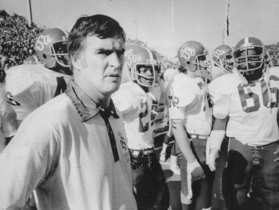 Fiesta Bowl Dec. 28, 1974: Oklahoma State University (OSU) football coach Jim Stanley
