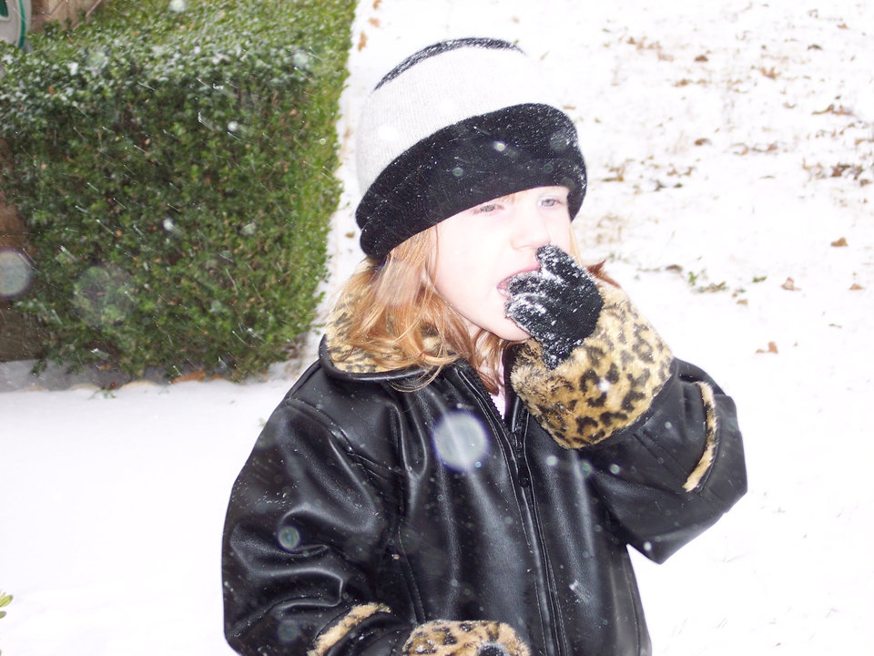 Jordan enjoying all the beautiful snow. Community Photo By: Rhonda (mommy) Submitted By: Rhonda, Midwest City