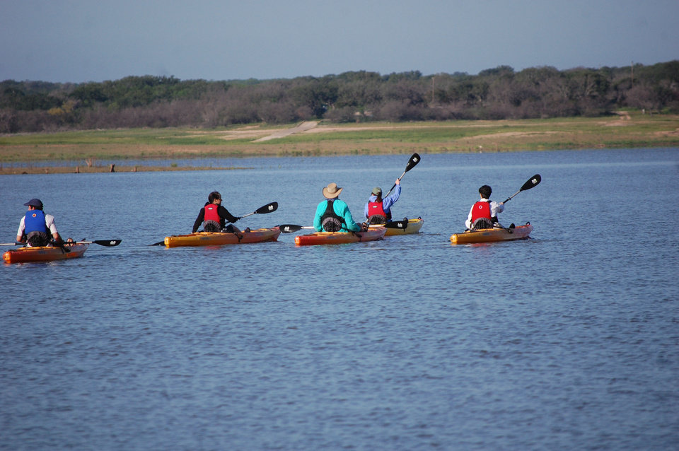 Photo - Kayaking on Lake Buchanan is a popular activity with Canyon of the Eagles guests.  Photo by Wesley K.H. Teo.