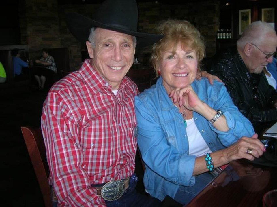 "Photo -  Actor Johnny Crawford and wife, Charlotte, enjoy a moment during August's Dodge Days in Dodge City, Kan. Crawford was a special guest of organizers. As a child actor, he played the role of Mark McCain in the television series ""The Rifleman"" from 1958 to 1963. Photo by Steve Gust, for The Oklahoman."