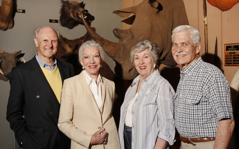 Photo - Walter and Helen Ross, Sue Gabe, Bill Lockard. PHOTO BY JIM BECKEL, THE OKLAHOMAN