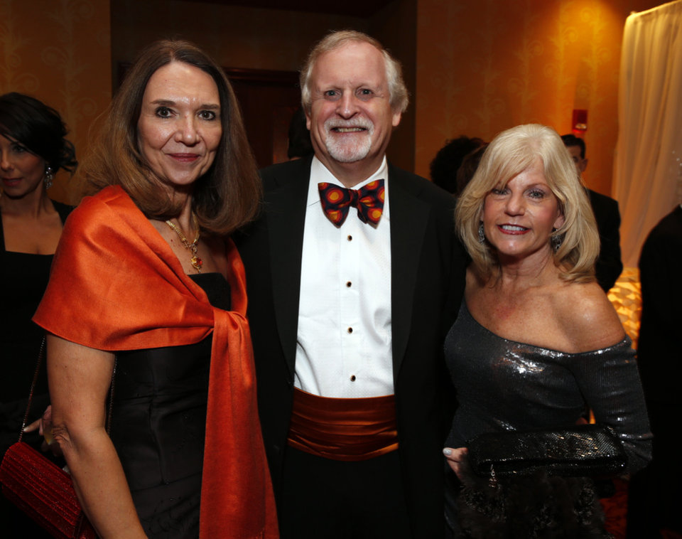 Oklahoma State University-Tulsa president Howard Barnett and wife Billie, left, and Ann Ackerman attend the Oklahoma Speaker's Ball at the Embassy Suites Hotel on Friday, Feb. 1, 2013 in Norman, Okla.  Photo by Steve Sisney, The Oklahoman