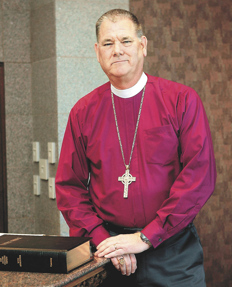 The Rt. Rev. Edward Konieczny, bishop of the Episcopal Diocese of Oklahoma  <strong>PAUL HELLSTERN - The Oklahoman</strong>