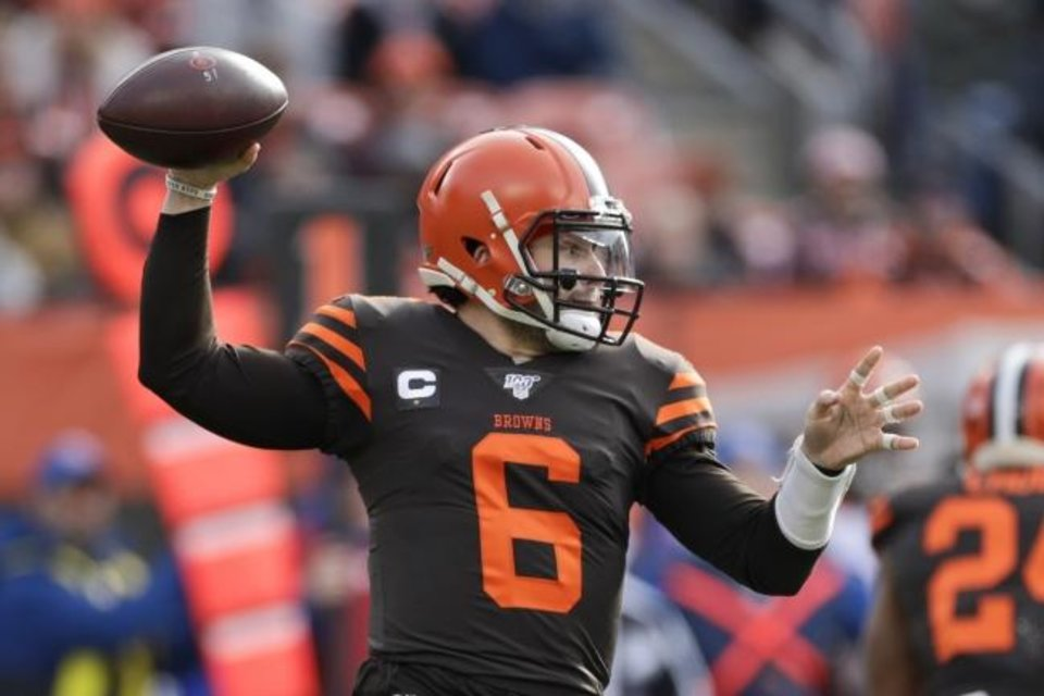 Photo -  Baker Mayfield has thrown more interceptions than touchdowns this season for the 6-7 Browns. [AP Photo/Ron Schwane]