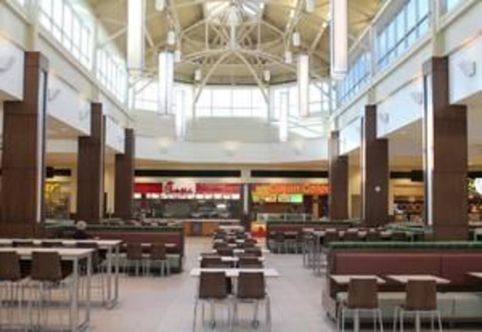Recently completed renovations at Penn Square Mall include a modernized food court with updated seating. Photo provided