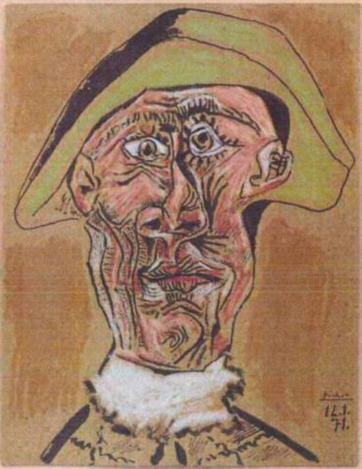 Photo - FILE  - This photo released by the police in Rotterdam, Netherlands, on Tuesday, Oct. 16, 2012, shows the 1971 painting 'Harlequin Head' by Pablo Picasso. A Romanian museum is analyzing ashes found in a stove to see if they are the remains of seven paintings by Picasso, Matisse, Monet and others that were stolen last year from the Netherlands, an official said Tuesday July 16, 2013.  Picasso's 'Harlequin Head' was one of the stolen paintings. (AP Photo / Police Rotterdam, File)