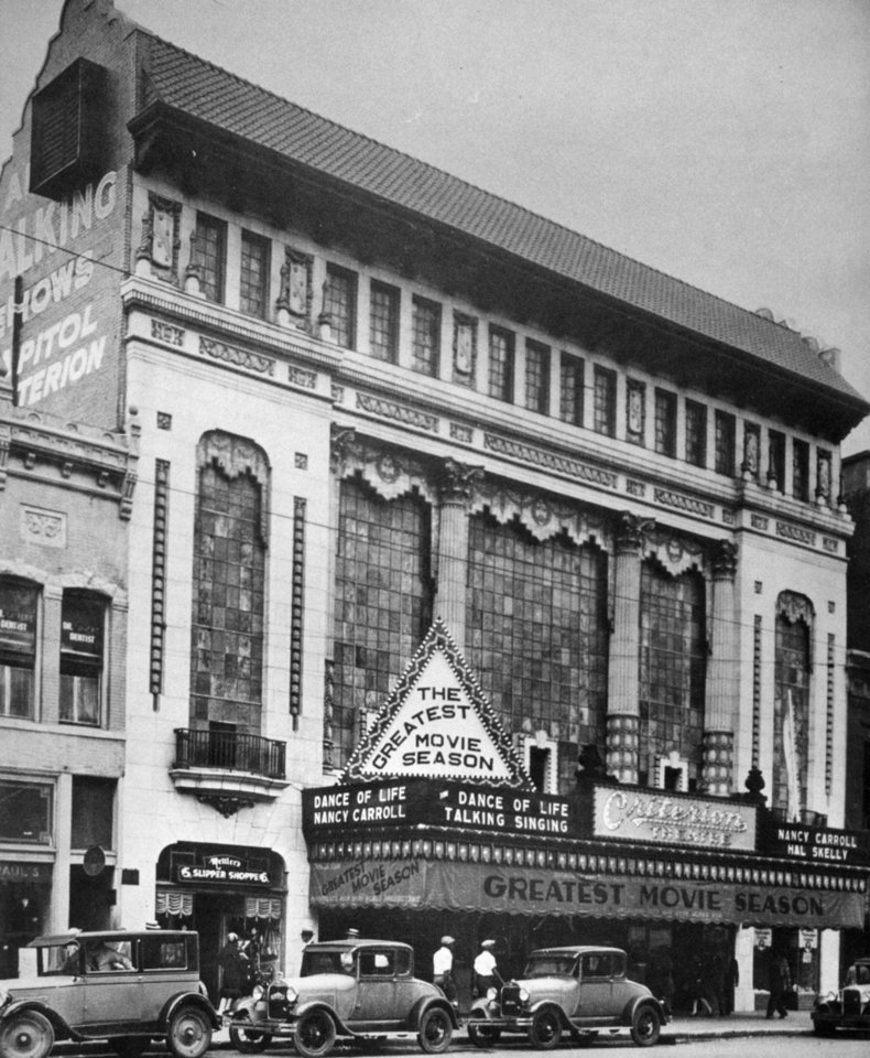 Photo - The Criterion Theatre in the late 1920s.  Oklahoman archive photos  FILE PHOTO 1920'
