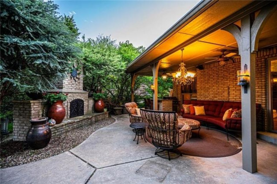 Photo -  A view of outdoor living space at 3600 Redmont Trace, Edmond, the Listing of the Week. [PHOTO PROVIDED]
