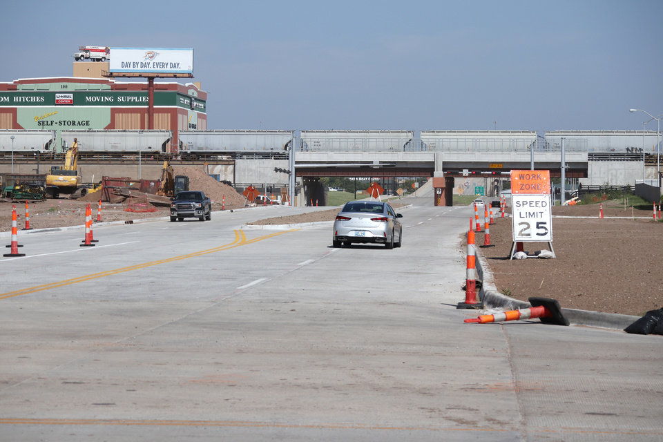 Photo - The Oklahoma City Boulevard is now open between E.K. Gaylord and Boulevard and Hudson Avenue in downtown Oklahoma City. [Photo by Doug Hoke, The Oklahoman]