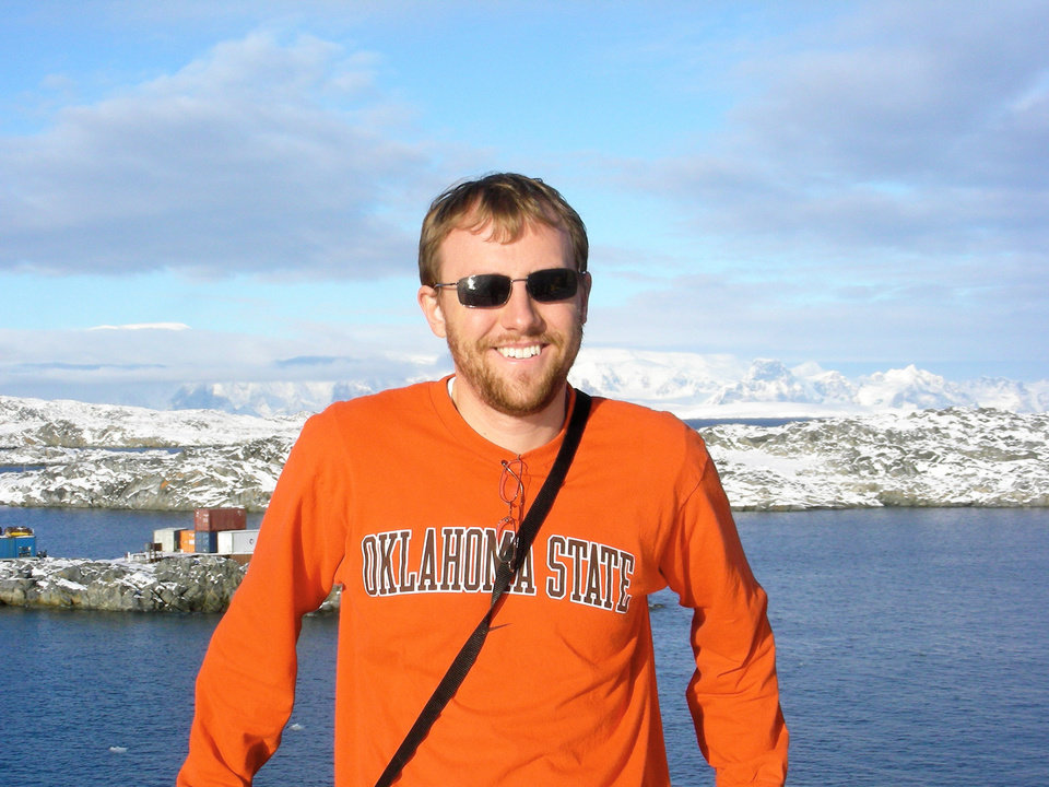 Shown above in 2007, OSU  geology professor Alex Simms  will return to Antarctica with two graduate students in the spring.