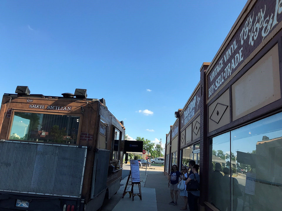 Photo - Saucee Sicilian recently had a pop-up in the space where it will soon operate daily. [Dave Cathey/The Oklahoman]
