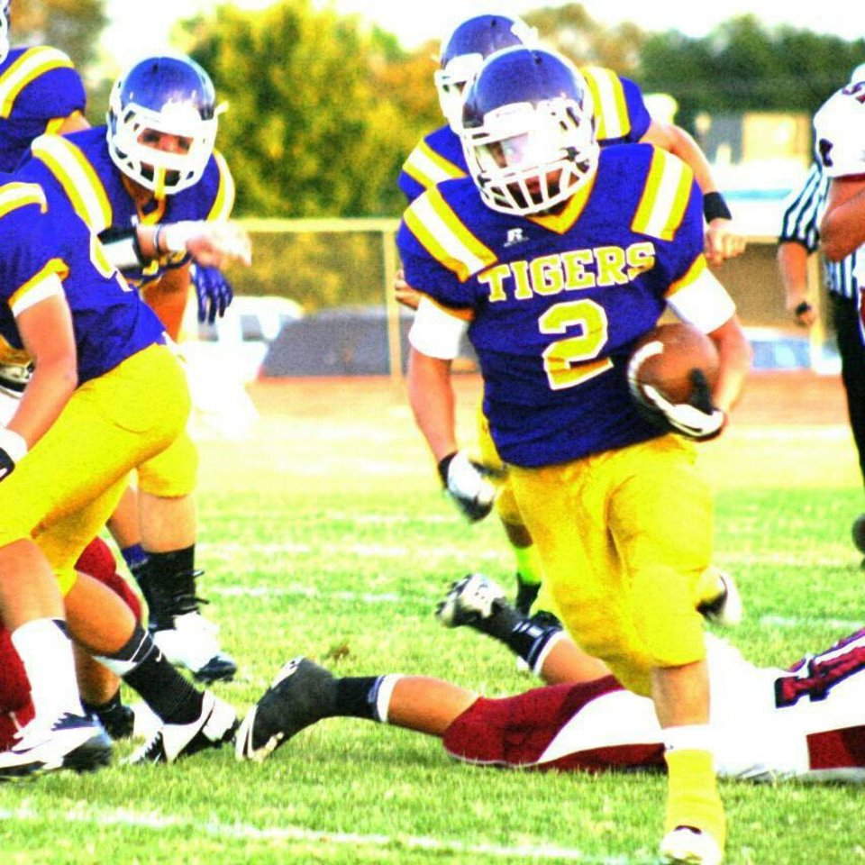 Photo - HIGH SCHOOL FOOTBALL: Laverne running back Trevor Harris. PHOTO PROVIDED