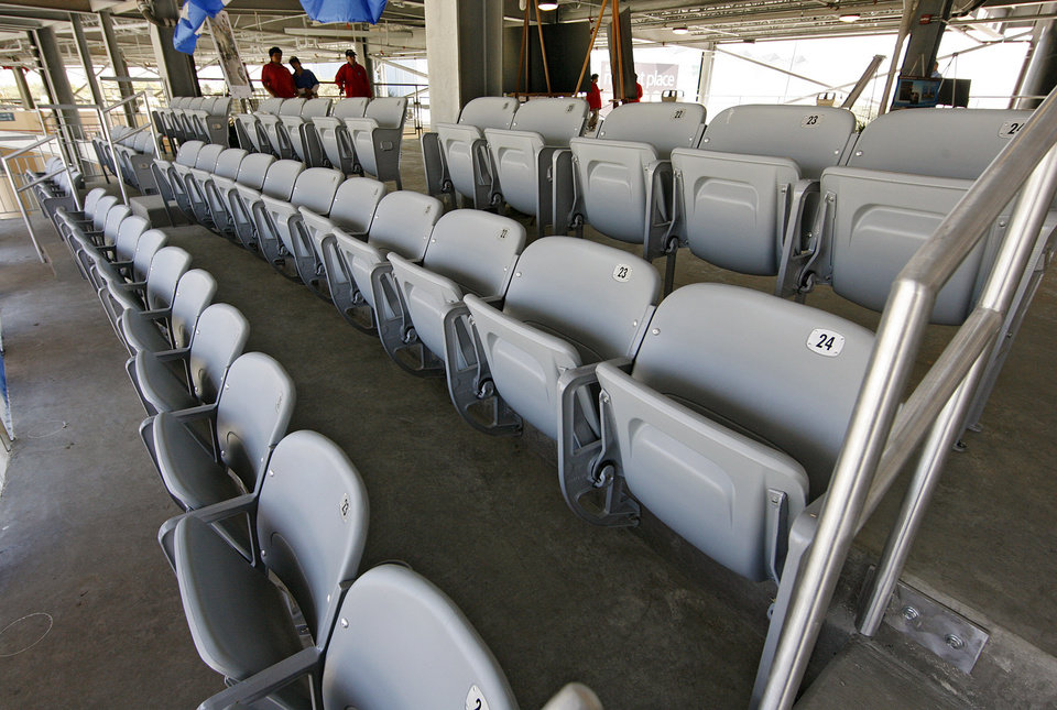 Renovations and additions to the club seating in the Cotton Bowl on display to the media on Wednesday, Sept 17,  2008, in Dallas, Texas.