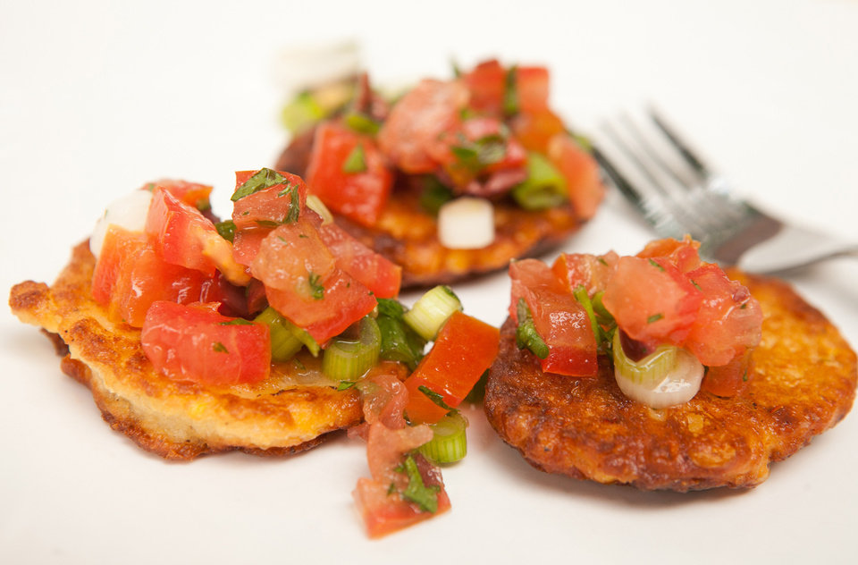 Photo - Corn Fritters with Summer Salsa is among the favorite recipes from the past year from the pages of the Atlanta Journal-Constitution. (Renee Brock/Atlanta Journal-Constitution/MCT)
