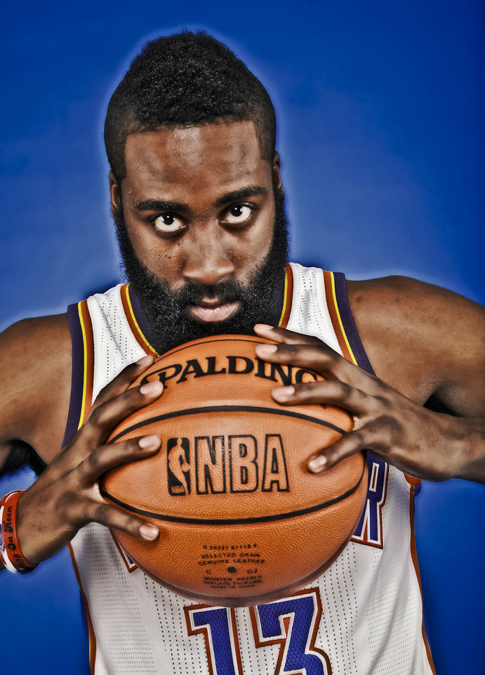 Photo - The Thunder's James Harden has settled in as the team's sixth man. Photo by Chris Landsberger, The Oklahoman