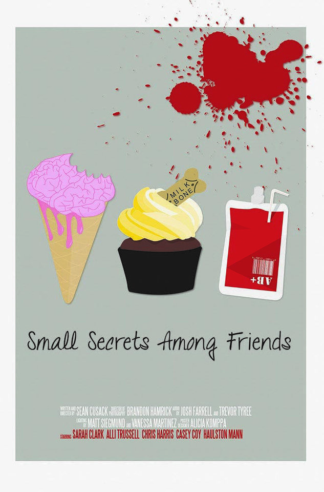 "Photo - A student-designed movie poster for ""Small Secrets Among Friends"" promotes one of the student-produced films to be featured Saturday at Moore Norman Technology Center's Red Carpet Film Festival."