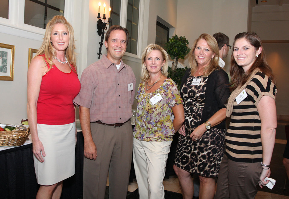 Photo -  Melinda Brewer, B.J. Rice, Kellie Taylor, Patty Anthony and Sasha Legere also attended the reception.