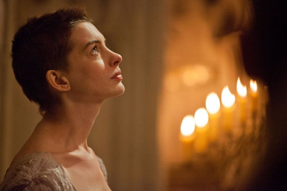 This film image, released by Universal Pictures, shows Anne Hathaway as Fantine in a scene from �Les Miserables.� AP photo