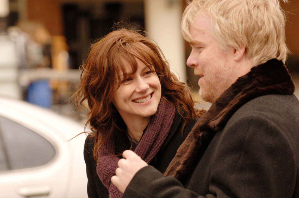 Photo - Laura Linney and Philip Seymour Hoffman in