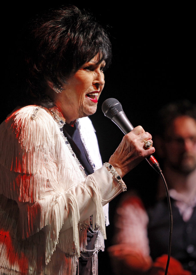 Photo -  ADADEMY OF CONTEMPORARY MUSIC AT UNIVERSITY OF CENTRAL OKLAHOMA / CONCERT: Wanda Jackson performs at the ACM@UCO in Oklahoma City Friday, January 28, 2011.  Photo by Bryan Terry, The Oklahoman ORG XMIT: KOD