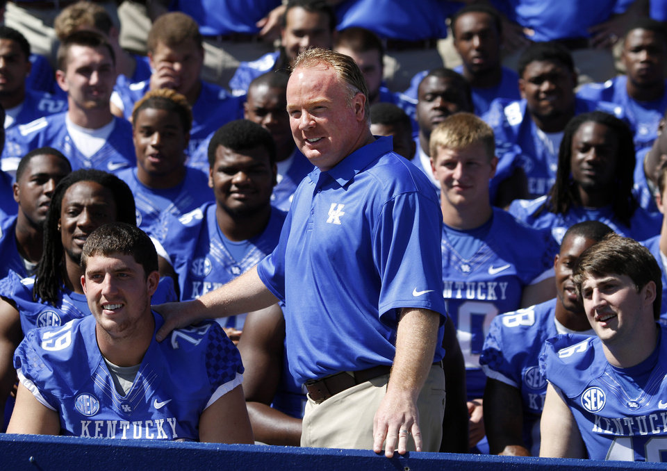 Bob Stoops� younger brother, Mark, is now coaching Kentucky. That hasn�t slowed Bob Stoops� anti-SEC comments. AP PHOTO