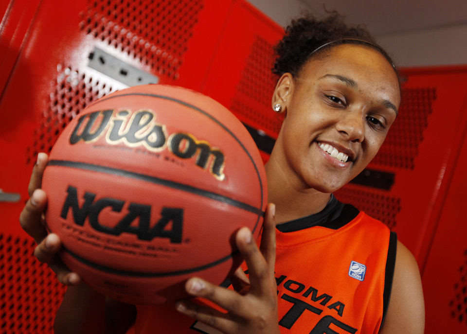 OSU women's college basketball player Kendra Suttles (31) poses for a portrait at Oklahoma State University in Stillwater, Okla., Thursday, Oct. 27, 2011.  Photo by Nate Billings, The Oklahoman ORG XMIT: KOD