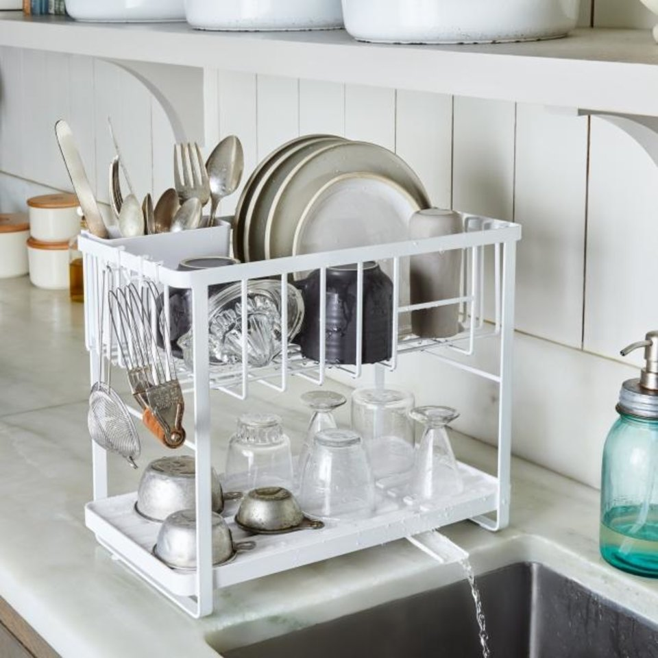 Photo -  The Yamazaki Home Double Decker Dish Rack ($78, food52.com). [ROCKY LUTEN/FOOD52]