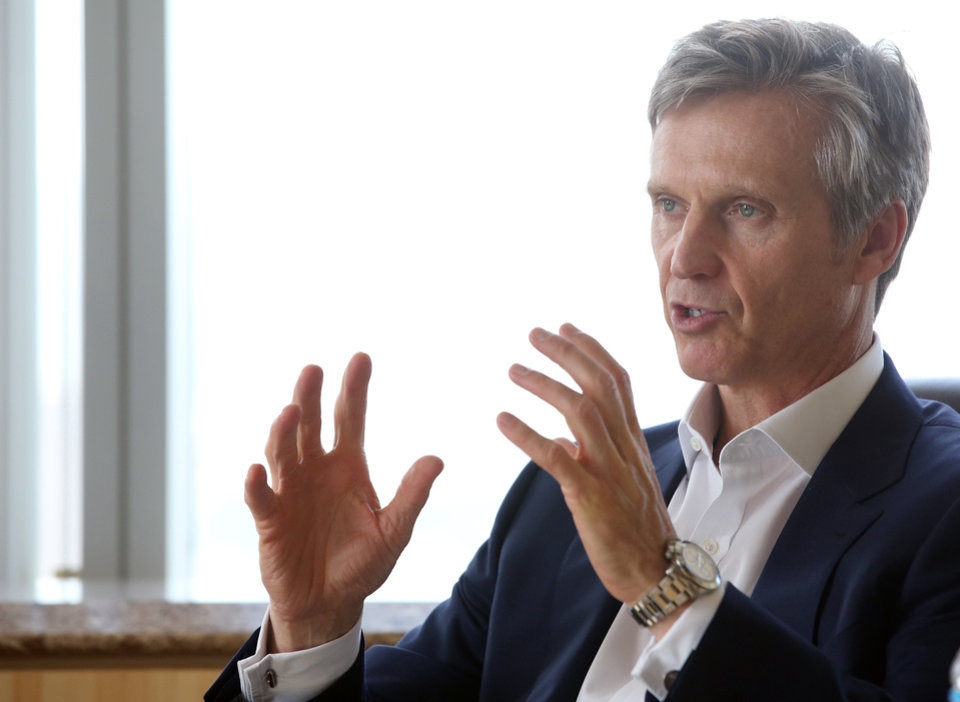 Photo - In this March 20, 2014 photo, Lew Dickey Jr., CEO of Cumulus Media, the second largest radio station owner in the country, is interviewed by The Associated Press in Los Angeles. (AP Photo/Nick Ut)