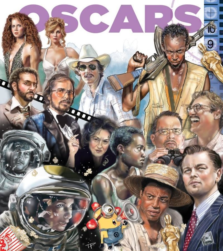 Photo -  The 86th Academy Awards are Sunday. Graphic by Todd Pendleton, The Oklahoman