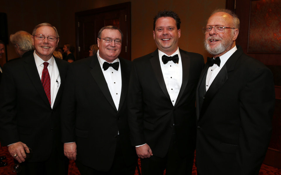 Steve Lewis, Glen Johnson, Chad Alexander and Ron Alexander attend he Oklahoma Speaker's Ball at the Embassy Suites Hotel on Friday, Feb. 1, 2013 in Norman, Okla.  Photo by Steve Sisney, The Oklahoman