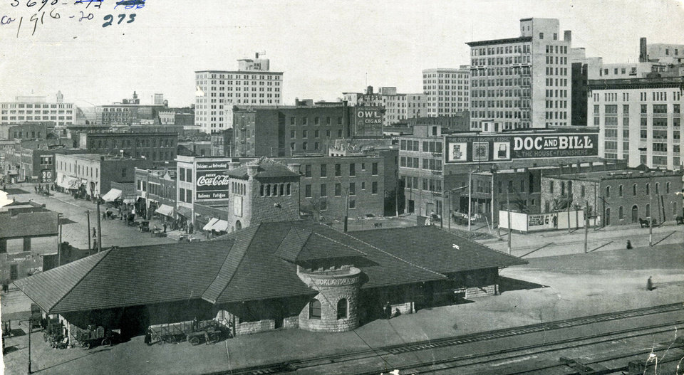 This 1916 photo shows how quickly Oklahoma City expanded, giving way to new commerce and rising buildings.  OKLAHOMA HISTORICAL SOCIETY PHOTO <strong></strong>