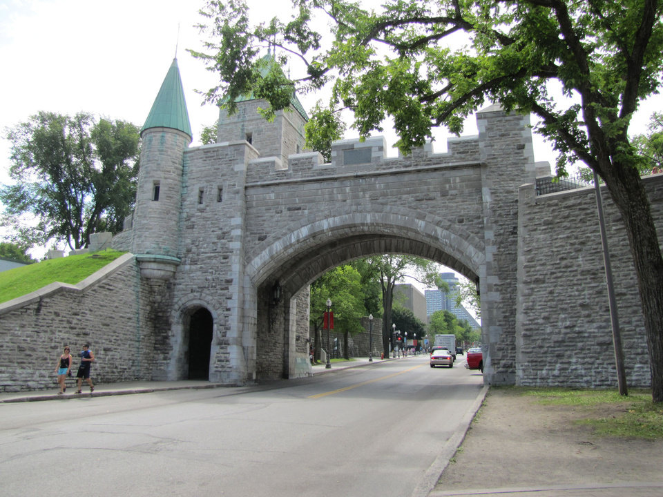 Photo -  Several gates were cut into the walls that surround Quebec City during the 19th century. Photo courtesy of Barbara Selwitz.