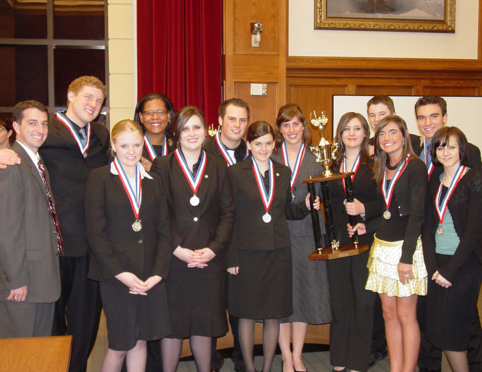 The Christian Heritage Academy mock trial team poses with their second place trophy after competing in the state championship in March.<br/><b>Community Photo By:</b> Lori Rasmussen<br/><b>Submitted By:</b> Lori, Oklahoma City