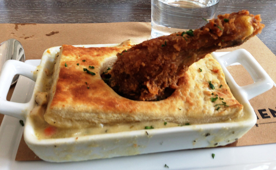 Chicken Pot Pie from Kitchen 324 in downtown Oklahoma City. <strong>DAVE CATHEY - THE OKLAHOMAN</strong>