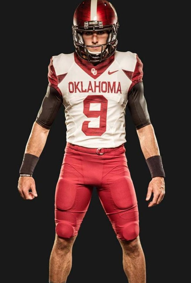Photo - OU's 2014 home alternate uniforms. PHOTO VIA OU SPORTS INFORMATION