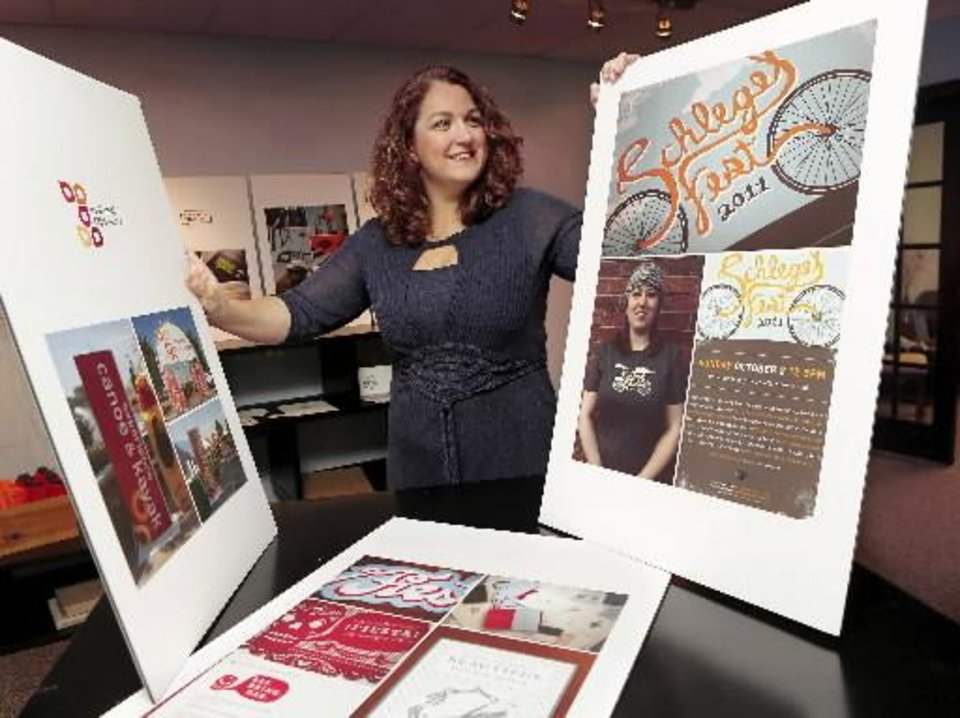 Photo - Sarah Sears at S Design Inc., in her office on Tuesday, Oct. 23, 2012. Photo by Jim Beckel, The Oklahoman