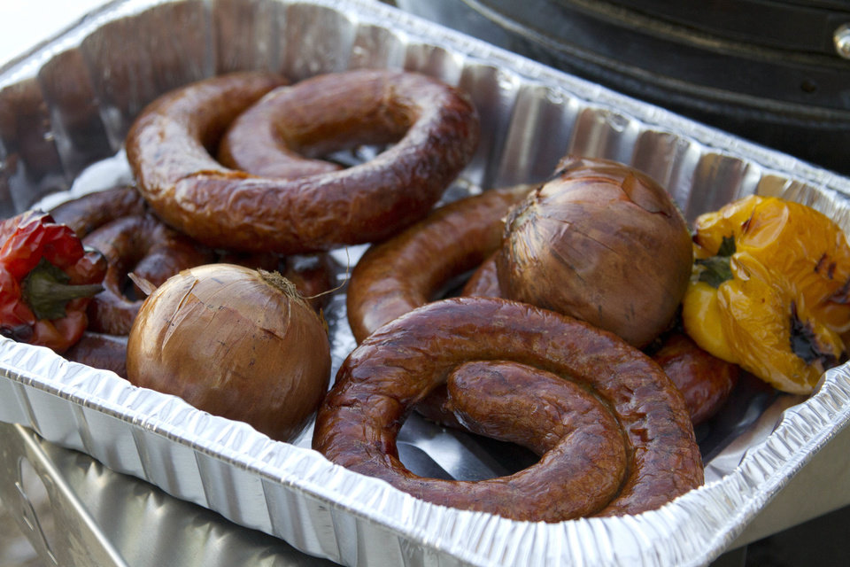 Photo - Smoked Italian sausage, onions and peppers from