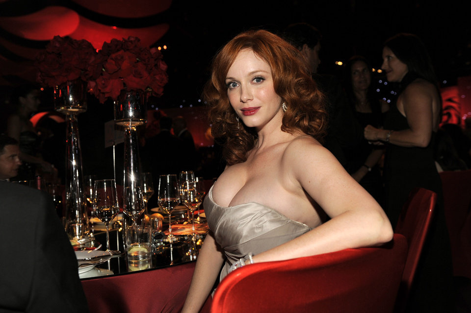 Photo -   Christina Hendricks poses for a photo at the 64th Primetime Emmy Awards Governors Ball on Sunday, Sept. 23, 2012, in Los Angeles. (Photo by Chris Pizzello/Invision/AP)