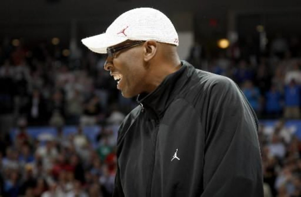 Photo - Wayman Tisdale is seen in this April 2009 file photo. Tisdale was announced as one of seven inductees to the Oklahoma Hall of Fame today.