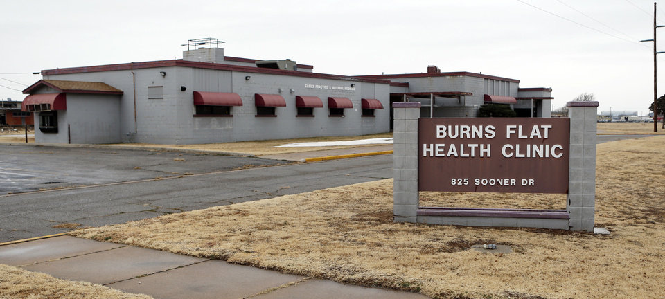 Photo - Burns Flat town officials are upset with spaceport officials over the closure of a pharmacy and health clinic on airpark property. Spaceport officials say they are not to blame. PHOTO BY STEVE SISNEY, THE OKLAHOMAN  STEVE SISNEY - THE OKLAHOMAN