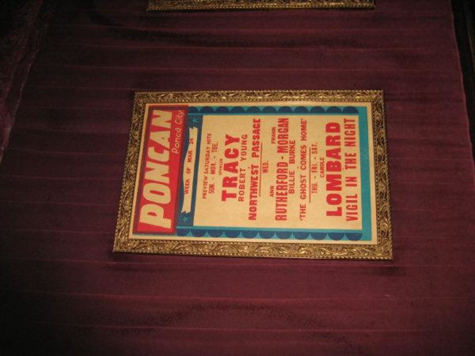 Photo - A lobby poster advertises showings of
