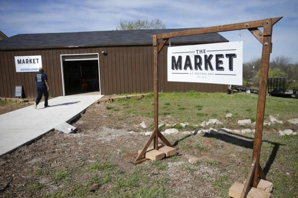 Photo - The Market at Restore OKC in Oklahoma City, Thursday, March 26, 2020.  [Bryan Terry/The Oklahoman]