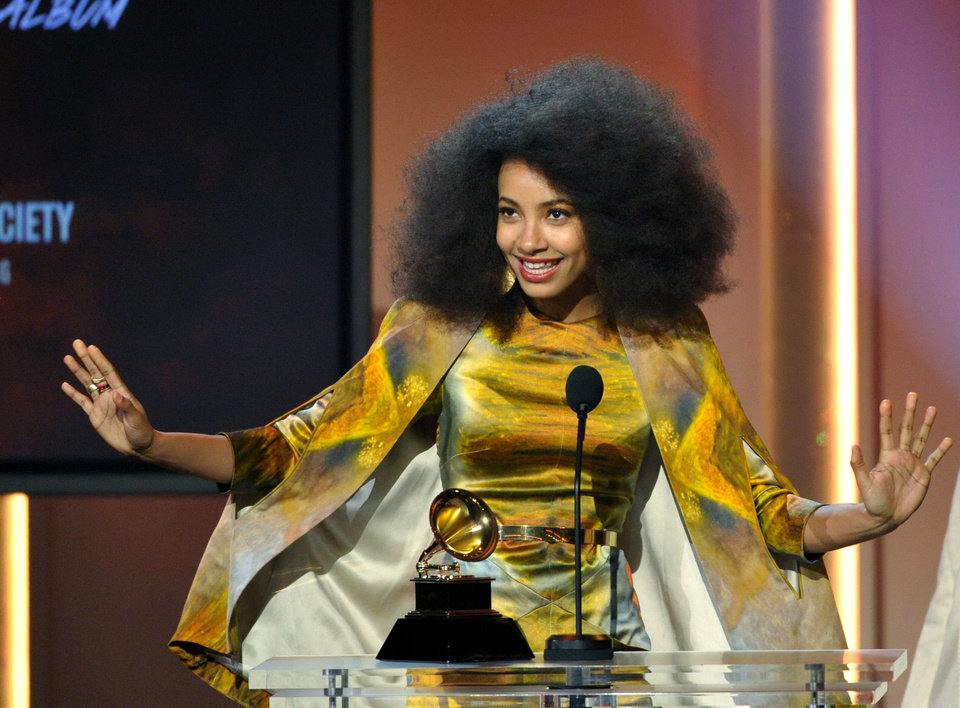 Esperanza Spalding accepts the jazz vocal album for