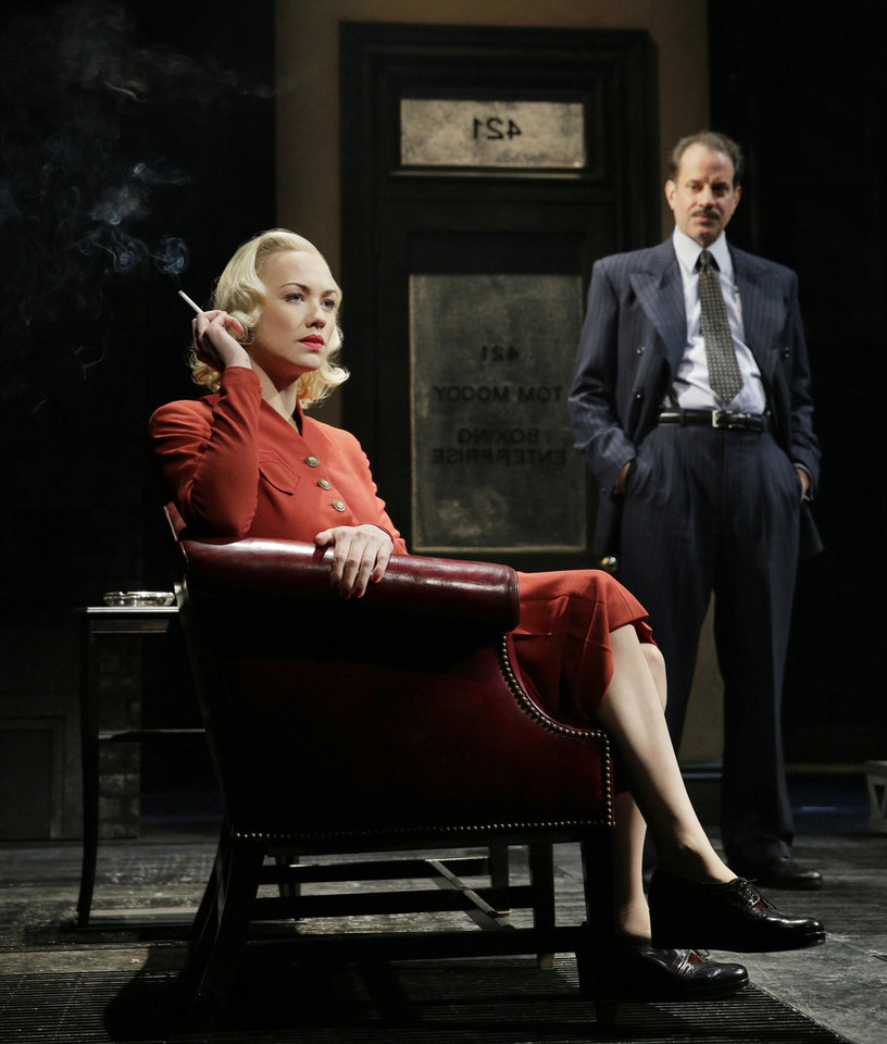 This undated image shows actors Yvonne Strahovski, left, and Danny Mastrogiorgio in Lincoln Center Theater\'s 75th anniversary production of