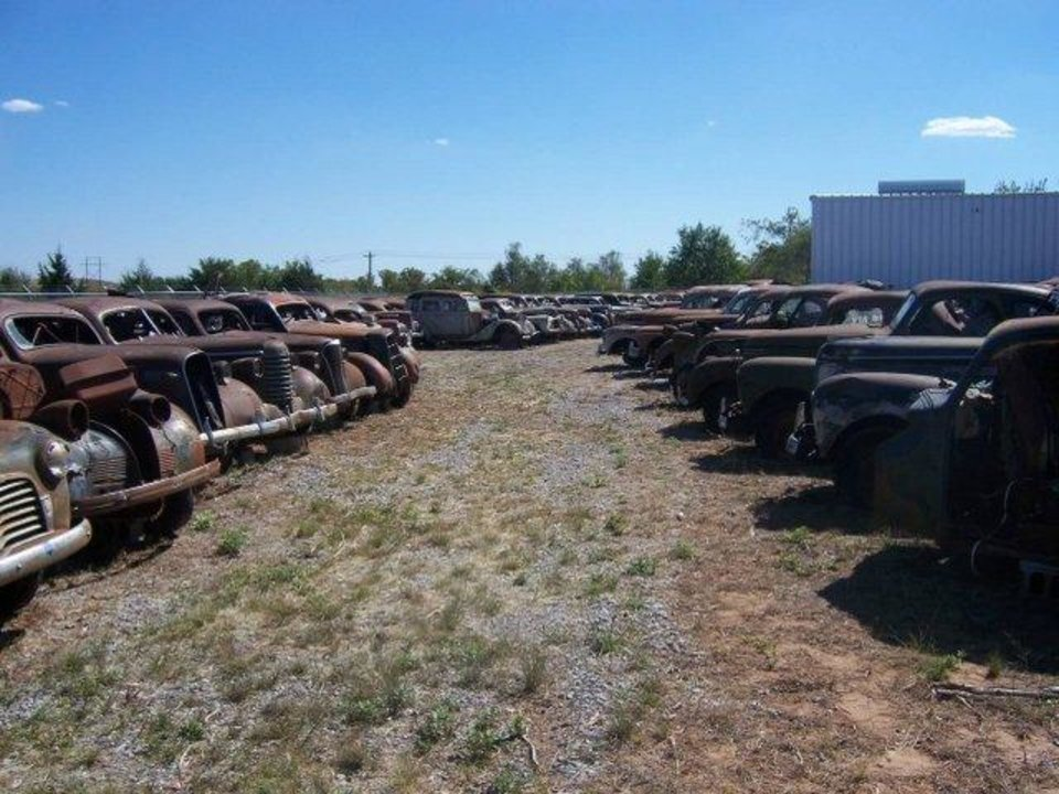 Photo -  A collection of more than 200 prewar, antique cars sit at 508 E South Gate Road in Enid ready to be auctioned off at 9:30 a.m. Saturday, June 7.    -  Photo Provided